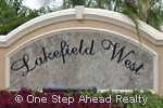 Lakefield West sign
