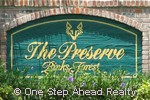 The Preserve at Binks Forest sign