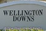 Wellington Downs sign