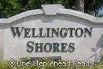 Wellington Shores sign